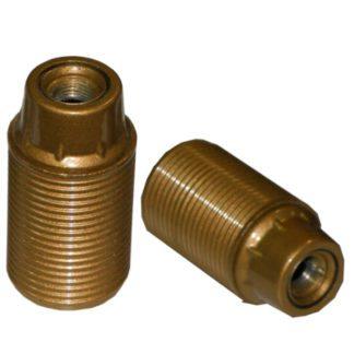 Ντουί βακελίτου EL290807 χρυσό Ε14 με μεταλλικό σπείρωμα M10x1 & 2 ροδέλες