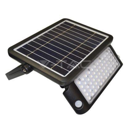 Προβολέας LED ηλιακός 10W Φυσικό λευκό 4000K Μαύρο σώμα με ανιχνευτή (9869)