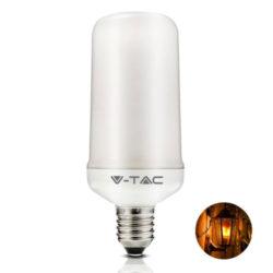 Λάμπα LED E27 Fire Flame 4W Θερμό λευκό 1800K vtac 7426