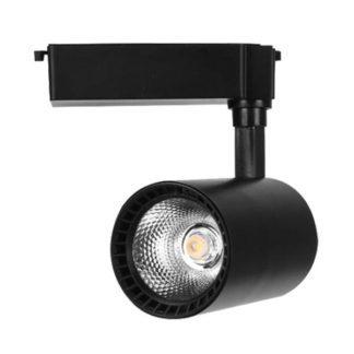 LED Φωτιστικό ράγας μονοφασικό 30W COB με μαύρο σώμα 6000K Λευκό sku 9000677