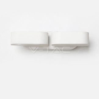 LED απλίκα 12W αρχιτεκτονικού φωτισμού 3000K Θερμό λευκό φως Λευκό σώμα περιστρεφόμενο (8292)