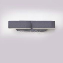 LED απλίκα 12W αρχιτεκτονικού φωτισμού 3000K Θερμό λευκό φως Γκρι σώμα περιστρεφόμενο (8294)