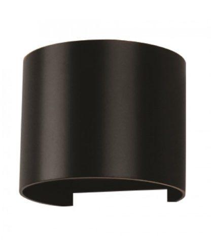 LED επιτοίχιο φωτιστικό 6W Στρογγυλό Μαύρο σώμα 3000K Θερμό λευκό φως (7081)