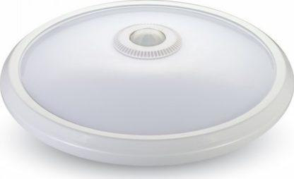 LED πλαφονιέρα -απλίκα με αισθητήρα κίνησης 12W Στρογγυλό 3000K Θερμό λευκό φως Λευκό σώμα (5057) 2