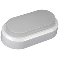 LED πλαφονιέρα-απλίκα 8W Οβάλ 3000K Θερμό λευκό φως Λευκό σώμα (1311)