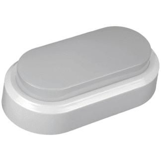 LED πλαφονιέρα-απλίκα 8W Οβάλ 3000K Θερμό λευκό φως Λευκό σώμα (1311) 2