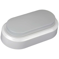LED πλαφονιέρα-απλίκα 8W Οβάλ 4000K Φυσικό λευκό φως Λευκό σώμα (1312)