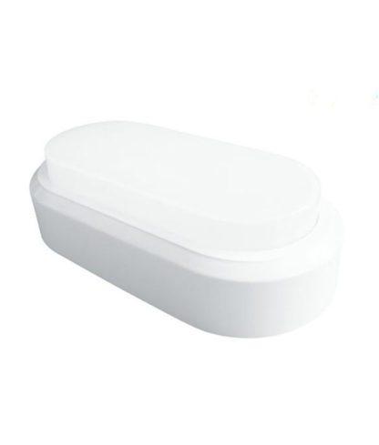 LED πλαφονιερα-απλίκα 8W Οβάλ 6400K Ψυχρό Λευκό φως Λευκό σώμα (1313) 2