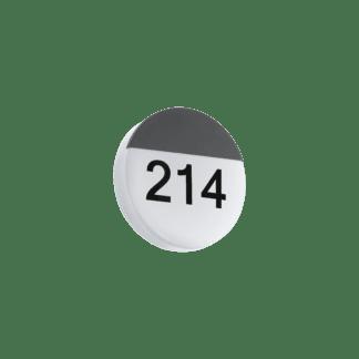 Απλίκα εξωτερικού χώρου στρογγυλή Ø25cm ανθρακί με λευκό OROPOS 96238