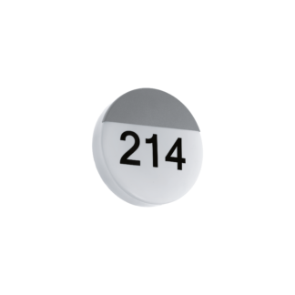 Απλίκα εξωτερικού χώρου στρόγγυλη Ø25cm ασημί με λευκό OROPOS 96237