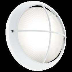 Απλίκα-πλαφονιέρα εξωτερικού χώρου στρογγυλή Ø26cm λευκή SIONES1 96341