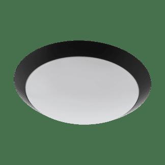 Απλίκα-πλαφονιέρα εξωτερικού χώρου στρογγυλή Ø30cm μαύρο με λευκό PILONE 97255