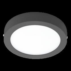 Απλίκα-πλαφονιέρα εξωτερικού χώρου στρογγυλή ανθρακί ARGOLIS 96492