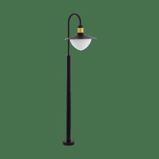 Φωτιστικό κολωνάκι εξωτερικού χώρου σε μαύρο με χρυσό SIRMIONE 97287