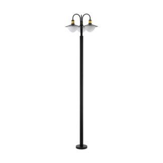 Φωτιστικό κολωνάκι εξωτερικού χώρου τρίφωτο σε μαύρο με χρυσό SIRMIONE 97288