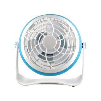 Ανεμιστήρας Επιτραπέζιος MINI 1.8W Φ10 Μπλε Με USB Περιστρεφόμενος 360° Eurolamp 147-29350