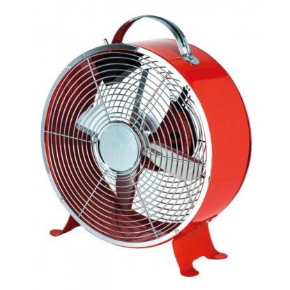 Ανεμιστήρας επιτραπέζιος Vintage Κόκκινος κυκλικός Φ20 15W Eurolamp 147-29075