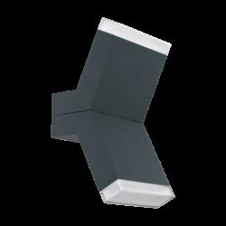 Απλίκα εξωτερικού χώρου σε ανθρακί με λευκό χρώμα CANTZO 97154