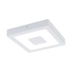Απλίκα-πλαφονιέρα εξωτερικού χώρου τετράγωνη σε λευκό χρώμα IPHIAS 96488