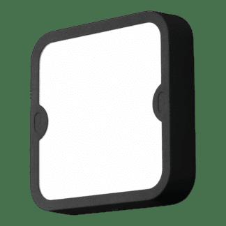 Απλίκα-πλαφονιέρα εξωτερικού χώρου τετράγωνη σε ανθρακί με λευκό χρώμα ALFENA-S 95082