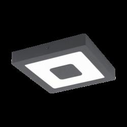Απλίκα-πλαφονιέρα εξωτερικού χώρου τετράγωνη σε ανθρακί χρώμα IPHIAS 96489
