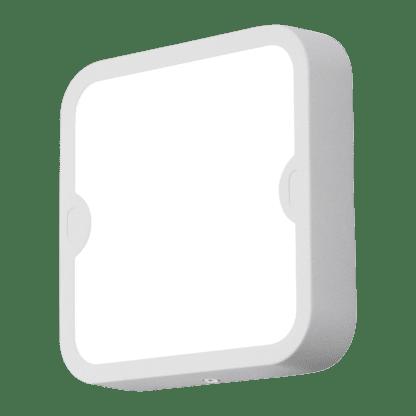 Απλίκα-πλαφονιέρα εξωτερικού χώρου τετράγωνη σε λευκό χρώμα ALFENA-S 95081