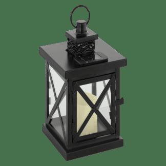 Ηλιακό φωτιστικό φανάρι μαύρο Υ26cm SOLAR-LED 48595