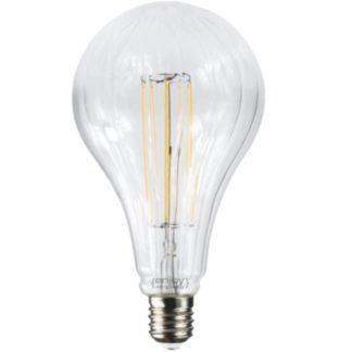 Λάμπα led filament αχλάδι Ε40 10W 230V θερμό λευκό φως Φ90x200mm EL827113