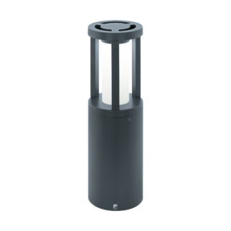 Φωτιστικό κολωνάκι εξωτερικού χώρου ανθρακί Y45cm GISOLA 97252