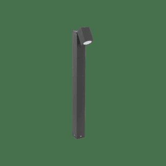 Φωτιστικό κολωνάκι εξωτερικού χώρου σε ανθρακί χρώμα Υ78cm SAKEDA 96288