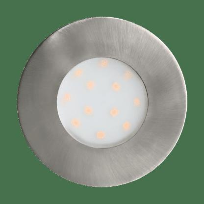 Χωνευτό σποτ εξωτερικού χώρου στρογγυλό σατινέ νίκελ PINEDA-IP 96415
