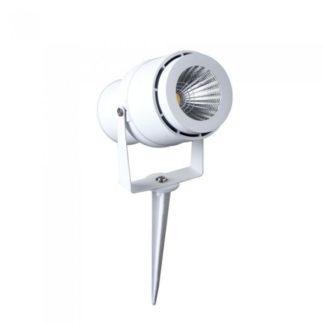 LED αδιάβροχο φωτιστικό καρφί 12W IP65 Πράσινο με λευκό σώμα 7549