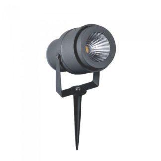 LED αδιάβροχο φωτιστικό καρφί 12W IP65 3000K Θερμό λευκό με γκρι σώμα 7550