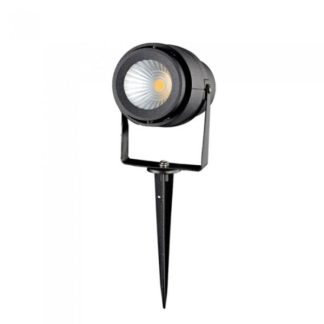 LED αδιάβροχο φωτιστικό καρφί 12W IP65 4000K Φυσικό λευκό με μαύρο σώμα 7545