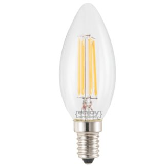 LED FILLAMENT DIMMABLE CLEAR GLASS ΚΕΡΙ B35-4 Ε14 4W 2700k 370lm Φ35x98 EL827352