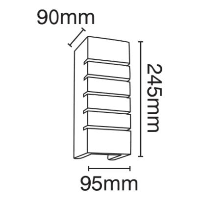 Απλίκα Γύψινη Λευκή Υ24,5cm VK 09010 2