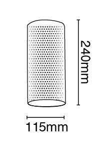 Απλίκα από γύψο διάτρητη, σωλήνας, σε λευκό με ντουί Ε14, Y24cm, VK 64174-233131 2