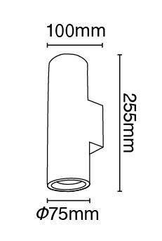 Απλίκα γύψινη κυλινδρική σε λευκό, με ντουί G10x2, Y25,5cm, VK64174-237131 2