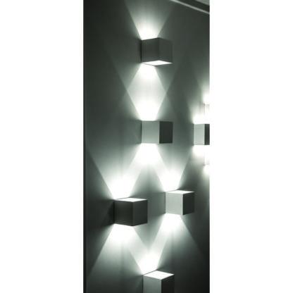 Απλίκα γύψινη κύβος σε λευκό, με ντουί G9, VK64174-262131 2