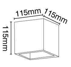 Απλίκα γύψινη κύβος σε λευκό, με ντουί G9, VK64174-262131 3