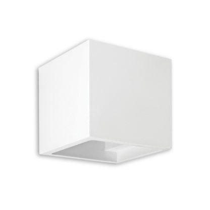 Απλίκα γύψινη κύβος σε λευκό, με ντουί G9, VK64174-262131