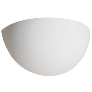 Απλίκα γύψινη σε λευκό, με ντουί E14, VK64174-229131