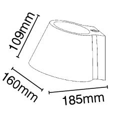Απλίκα γύψινη σε λευκό με ντουί G9, VK64174-259131 2