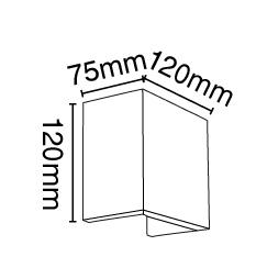 Απλίκα γύψινη τετράγωνη, σε λευκό, με ντουί G9, VK64174-263131 2