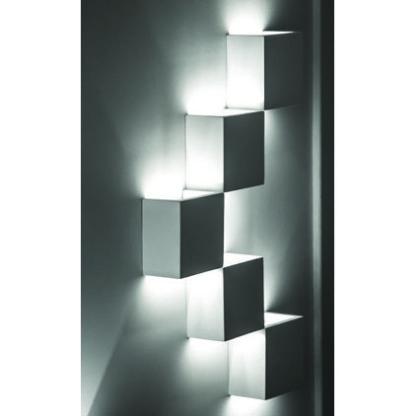 Απλίκα γύψινη τετράγωνη, σε λευκό, με ντουί G9, VK64174-263131 3