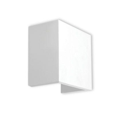 Απλίκα γύψινη τετράγωνη, σε λευκό, με ντουί G9, VK64174-263131