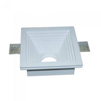 Γύψινο χωνευτό φωτιστικό Spot GU10 Λευκό Τετράγωνο βαθύ κλιμακωτό V-TAC 3151