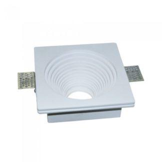 Γύψινο χωνευτό φωτιστικό Spot GU10 Λευκό Τετράγωνο-στρογγυλό βαθύ κλιμακωτό V-TAC 3152