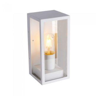 Επιτοίχιο φωτιστικό κήπου E27 IP44 Aluminum + Glass με Λευκό σώμα VTAC 8518