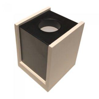 Επιφανειακό φωτιστικό Spot GU10 Γύψινο Τετράγωνο με σώμα λευκό & μαύρο V-TAC 3140